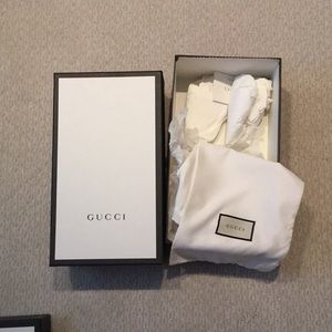 Empty Gucci Shoe box with dust bags